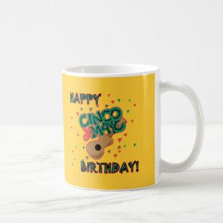 ¡Cumpleaños feliz de Cinco de Mayo Taza De Café
