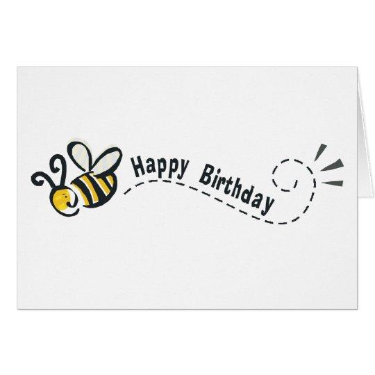 ¡Cumpleaños feliz de la abeja! Tarjeta De Felicitación