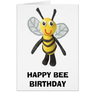Cumpleaños feliz de la abeja tarjeta de felicitación
