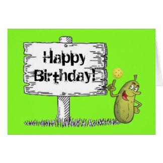 ¡Cumpleaños feliz de la salmuera! Tarjeta