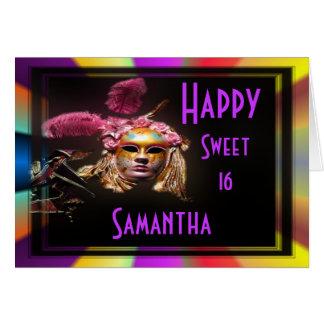 Cumpleaños feliz del dulce dieciséis tarjeta de felicitación
