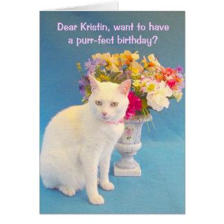 Cumpleaños femenino tarjeta de felicitación