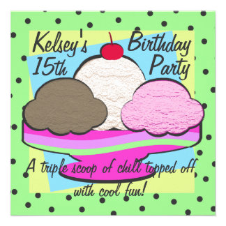 Cumpleaños fresco del helado comunicados