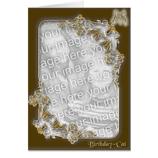 Cumpleaños - gato 2 tarjeta