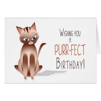 CUMPLEAÑOS - gato del gatito - cumpleaños del Tarjeta