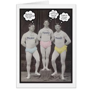 Cumpleaños gay divertido tarjeta de felicitación