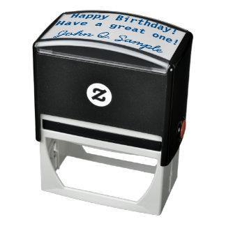 Cumpleaños Geeting con la firma Sello Automático