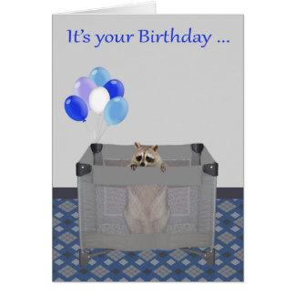 Cumpleaños, general, humor, tarjeta de