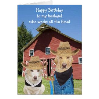 Cumpleaños gótico americano divertido del marido tarjeta de felicitación