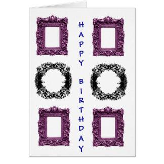 Cumpleaños gótico de los marcos tarjeta de felicitación