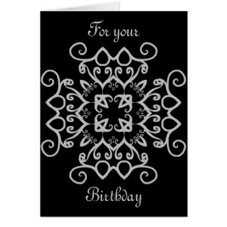 Cumpleaños gótico de lujo del victorian toda la tarjeta de felicitación