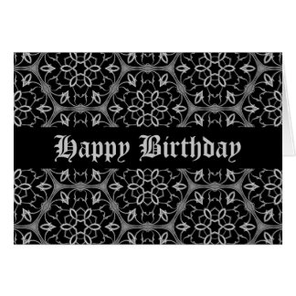 Cumpleaños gótico personalizado tarjeta de felicitación