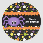 Cumpleaños Halloween de la araña Pegatina
