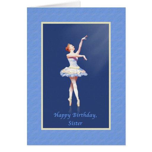 Cumpleaños, hermana, bailarina en Pointe Tarjetón