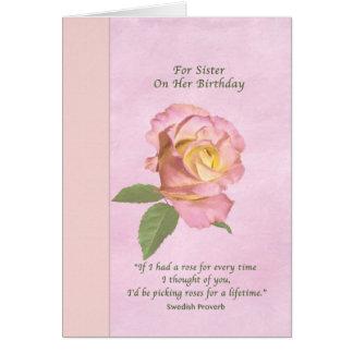 Cumpleaños, hermana, paz subió tarjeta de felicitación