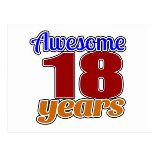 Cumpleaños impresionante 18 postal