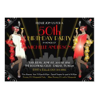 Cumpleaños Inivtation del carnaval de la mascarada Invitación 12,7 X 17,8 Cm