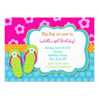 Cumpleaños Invitaitons de la fiesta en la piscina Anuncio