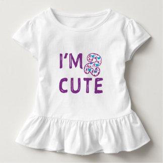 Cumpleaños lindo de la mariposa dos camiseta de bebé