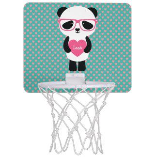 Cumpleaños lindo de la panda mini tablero de baloncesto