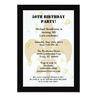 Cumpleaños lindo de la sorpresa del oro del negro comunicado