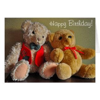 Cumpleaños lindo de los osos de peluche tarjeta de felicitación