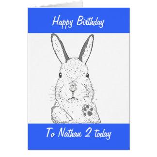Cumpleaños lindo del conejo tarjeta de felicitación