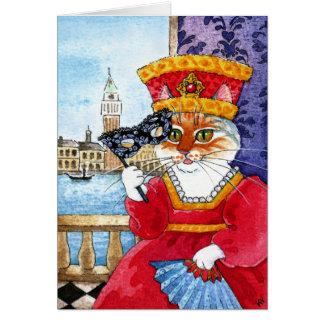 Cumpleaños lindo del gato o cualquier tarjeta de