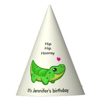 Cumpleaños lindo del nombre del chica del dibujo gorro de fiesta