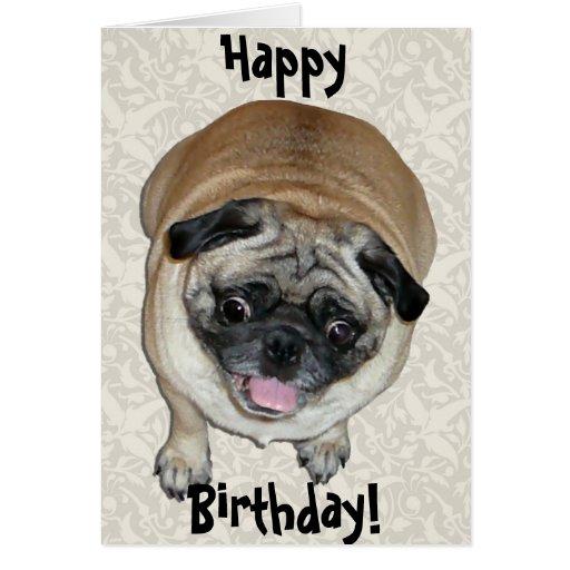 Cumpleaños lindo del perro del barro amasado felicitaciones