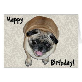 Cumpleaños lindo del perro del barro amasado tarjeta de felicitación