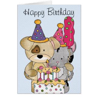 Cumpleaños lindo tarjeta de felicitación