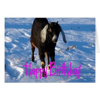Cumpleaños Minnie la cabra en nieve Felicitacion