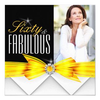 Cumpleaños moderno elegante amarillo fabuloso 2 de invitación 13,3 cm x 13,3cm