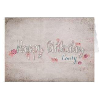 cumpleaños musical del vintage feliz tarjeta de felicitación