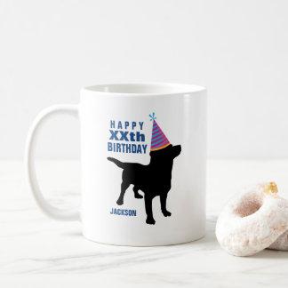 Cumpleaños negro divertido del personalizado del taza de café