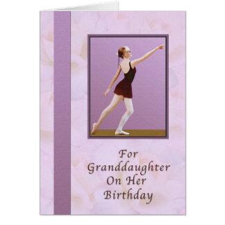 Cumpleaños, nieta, bailarina tarjeta de felicitación