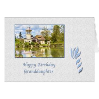 Cumpleaños, nieta, Versalles, Francia, tarjeta