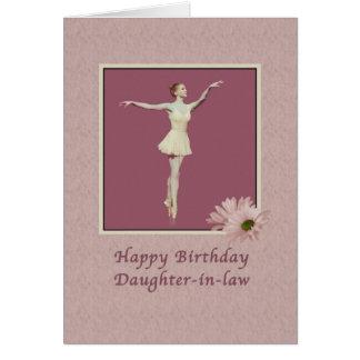 Cumpleaños, nuera, bailarina en Pointe Tarjeta De Felicitación