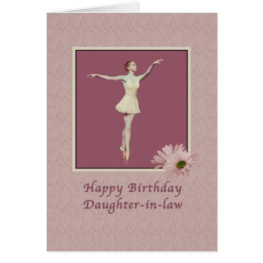 Cumpleaños, nuera, bailarina en Pointe Tarjeta