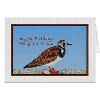 Cumpleaños, nuera, pájaro del Turnstone rubicundo Tarjeta De Felicitación