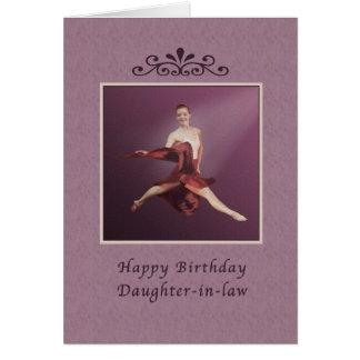 Cumpleaños, nuera, saltando a la bailarina tarjeta de felicitación