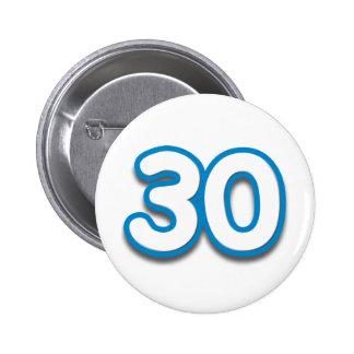 Cumpleaños o aniversario de 30 años - añada el tex chapa redonda 5 cm