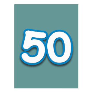 Cumpleaños o aniversario de 50 años - añada el postal