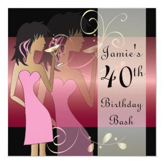 Cumpleaños o fiesta del chica de la diva de invitación 13,3 cm x 13,3cm