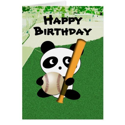 Cumpleaños para el aficionado al béisbol felicitaciones