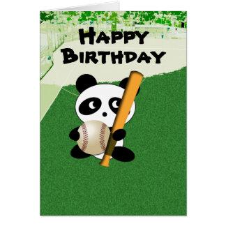 Cumpleaños para el aficionado al béisbol felicitacion