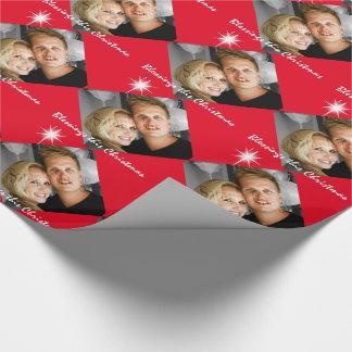 Cumpleaños personalizado de la familia de la foto papel de regalo