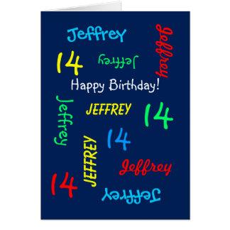 Cumpleaños personalizado de la tarjeta de