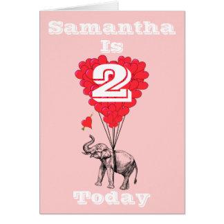 Cumpleaños personalizado de los chicas tarjeta pequeña
